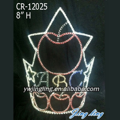 Apple ABC Rhinestone Pageant Crown