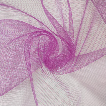 "58/60"" wide purple hexagon soft tulle mesh fabric"