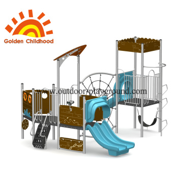 Outdoor Climbing Tower Equipment Blue For Children