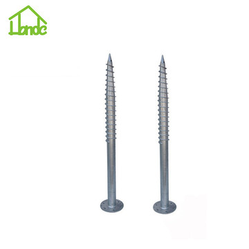 Helical anchor for houses