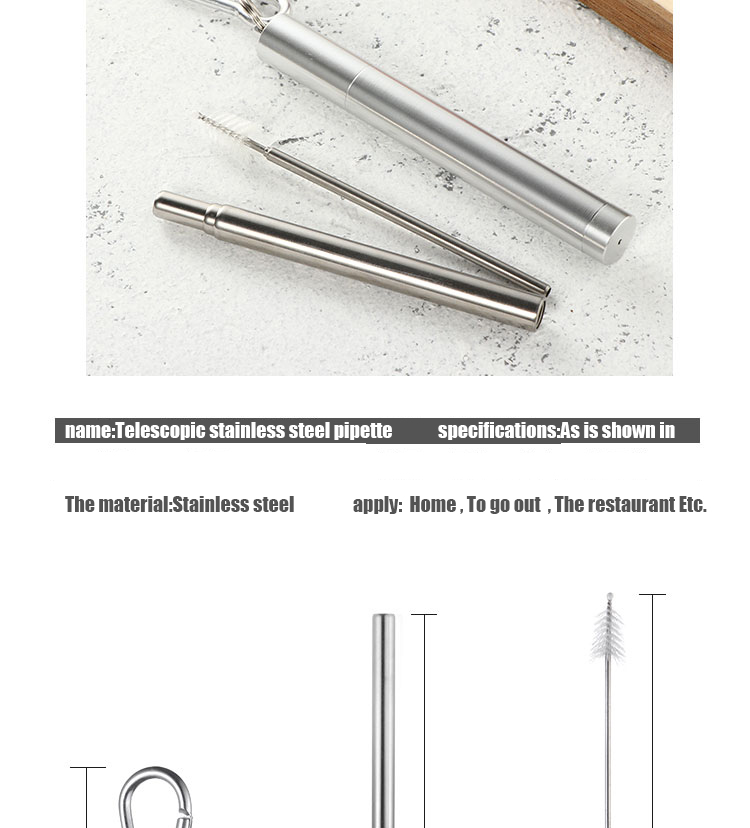 collapsible straws Set