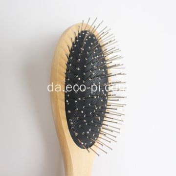 Bamboo Oval Paddle Boar Bristle Pet børste