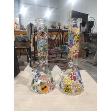Mushroon Decal Glass Beaker Bongs