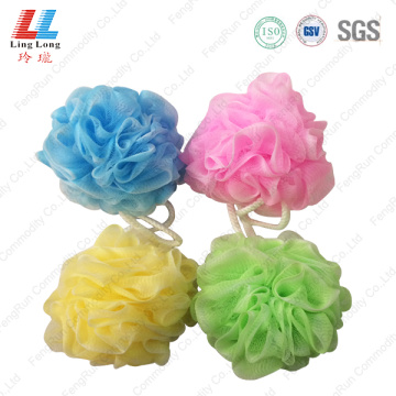 Two colors soft bathing sponge ball