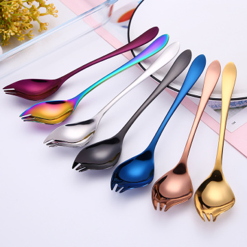 Multifunction Stainless Salad Soup  Pasta Spoon Fork