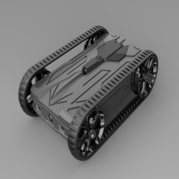 Black wifi racing battle tank