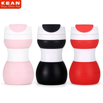 Silicone Double Walled Ceramic Travel Mug