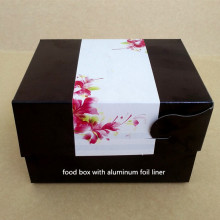 Aluminum foil food paper box
