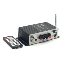 KYYSKB 2019 LP-A7 12V USB FM with radio remote control mini 2.0 Bluetooth amplifier home amplifier car amplifier