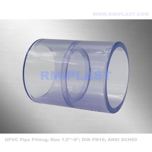 Clear PVC Coupling ASTM SCH80