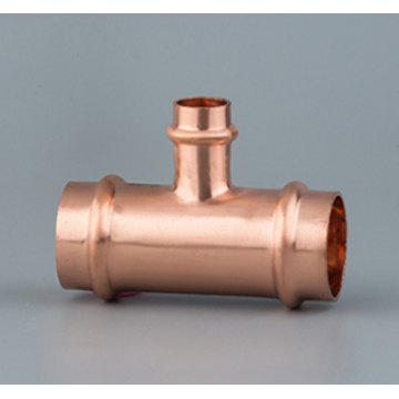Copper V-profile reducer tee(AS 3688)