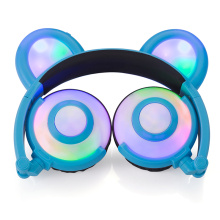 Figment Söt LED Light Panda Ear Headphones