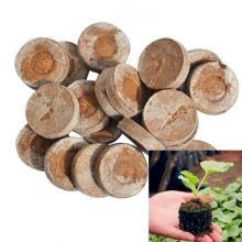 Onnfang100pcs 30mm Peat Pellets Plant Seedling Soil Blocks Starting Plugs Garden Tools for Indoor Home Gardening Greenhouse