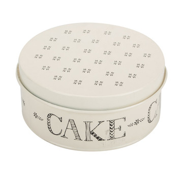 Tin Powder Coated Cake Cookie Can Box