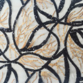 Popular Black Gold Geometry Sequin Embroidery Fabric