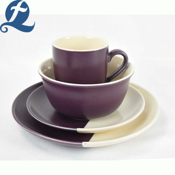Custom Splice Color Cooking Ceramic Hotel Dinner tableware set