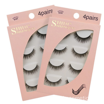 Partihandel Privat Etikett 100% 3D Real Mink Fur Ögonfransar Med Custom Eyelash Packaging
