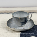 Hand painted ceramic tableware cup and saucer sets