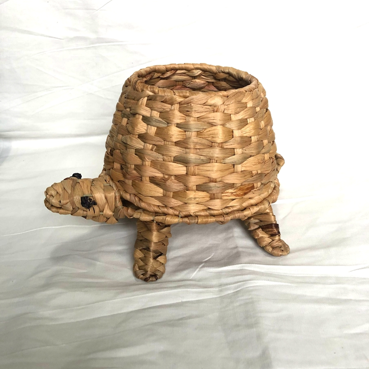 tortoise-like nature water hyacinth handicraft decoration pot-1