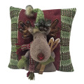 Christmas reindeer pattern soft pillow