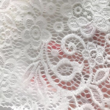 Nylon Elastic Lace Fabric