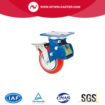 shock absorption caster with spring