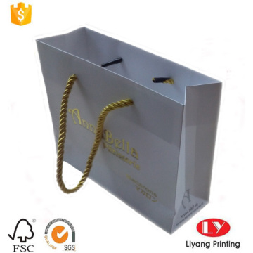 Small Gift Paper Bag with Gold handle
