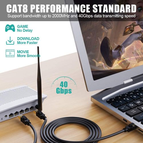 High Speed CAT8 Ethernet Cable Used For Indoor