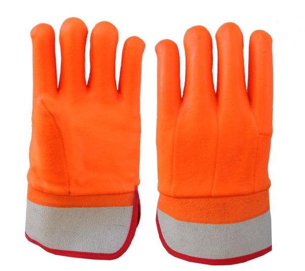 safety cuff PVC coated gloves