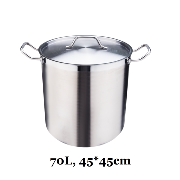 Grade 70L Heavy Gauge Stainless Steel Stock Pot
