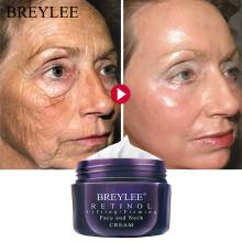 BREYLEE Retinol Firming Face Cream Lifting Neck Anti-Aging Removing Wrinkle Night Day Moisturizer Whitening Facial Skin Care 40g