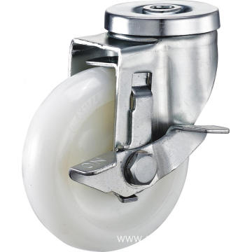 3inch Hollow Pivel Swivel PA Casters With Side Brake