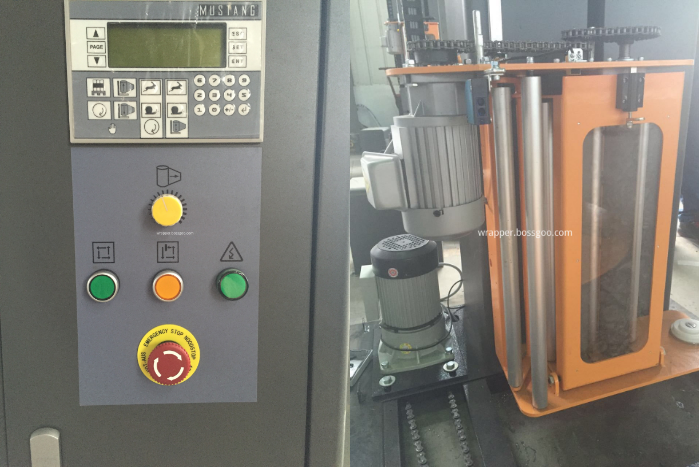 Bottle Packaging Machine Price (control panel and film carriage)
