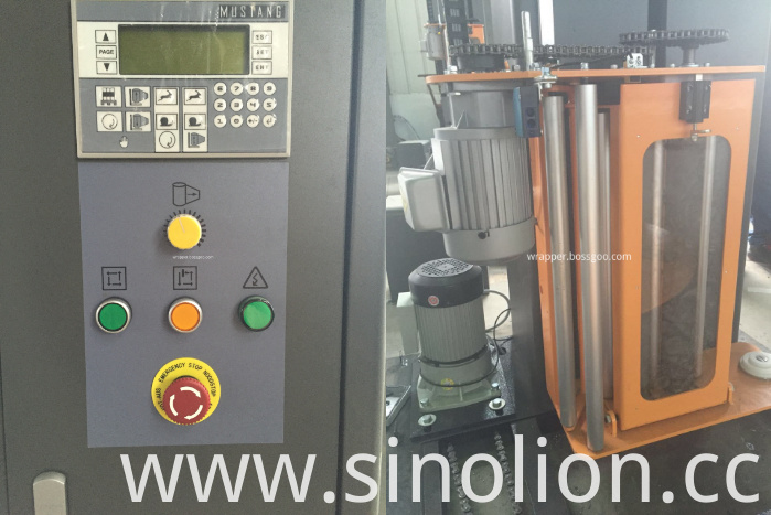 Pallets Stretch Film Wrapping Machine (control panel and film carriage)