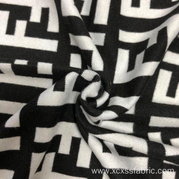 Custom Jacquard 90% polyester 10% spandex knitted fabric