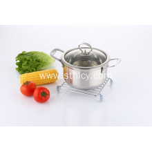 201 Stainless Steel Sauce Pot with Lid