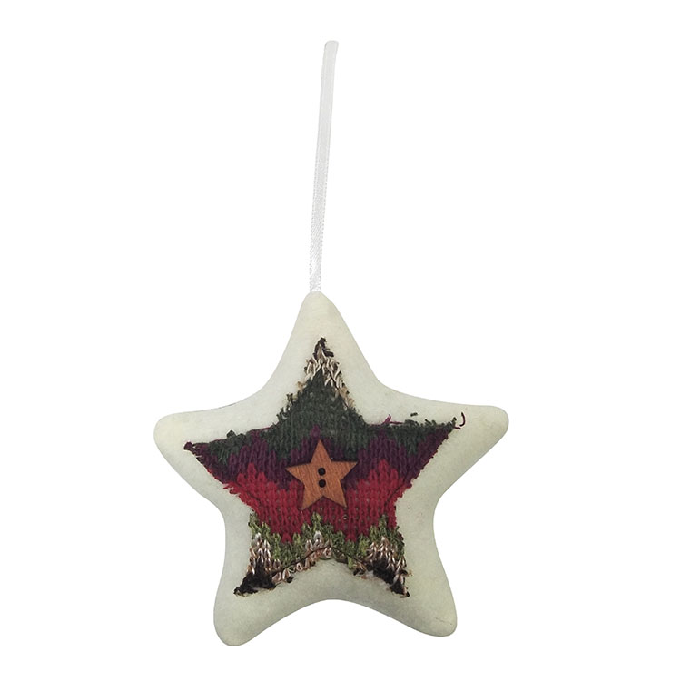 Christmas 3d Star Shape Tree Pendant