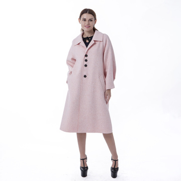 New pink cashmere overcoat