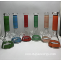 Simple Cheap Glass Beaker Bongs in 6 Colors