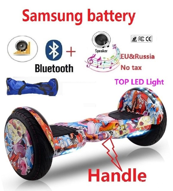 Hoverboard with Bluetooth LED Lights Big Wheel