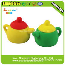 Red Tea Pot School Eraser Stationery