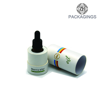 New cardboard shipping tube for oil bottle