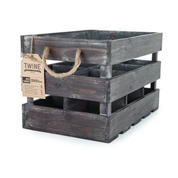 Madeira rústica 6 Garrafa Crate Wooden 6 Wine Bottle Holder