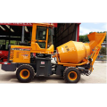Self-feeding Moving concrete mixer