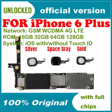Factory unlocked for iphone 6 Plus 5.5inch Motherboard NO / with Touch ID,Original for iphone 6Plus Logic board with Free iCloud