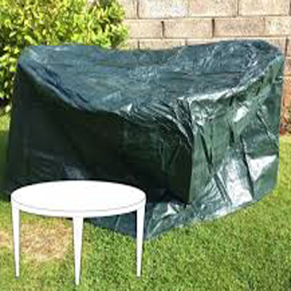Round Tarpaulin Garden Furniture Cover