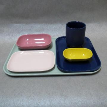 Stoneware Square Dinnerware Set Hot Assorted Colors