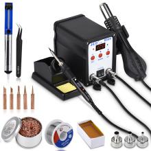 JCD Soldering Station 8908 Welding Repair machine 750W 2 IN 1 soldering iron with hair dryer SMD BGA Rework LCD Digital station