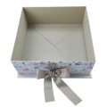 Colored Collapsible Christmas Gift Box with Ribbons