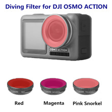 Diving Filter Camera Optical Glass For DJI Osmo Action Accessories Diving Red / Magenta / Pink Filters Set For DJI Osmo Action